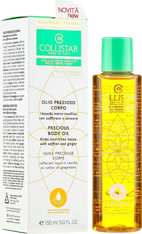 Precious Body Oil - Collistar Precious Body Oil Firms Nourishes Tones