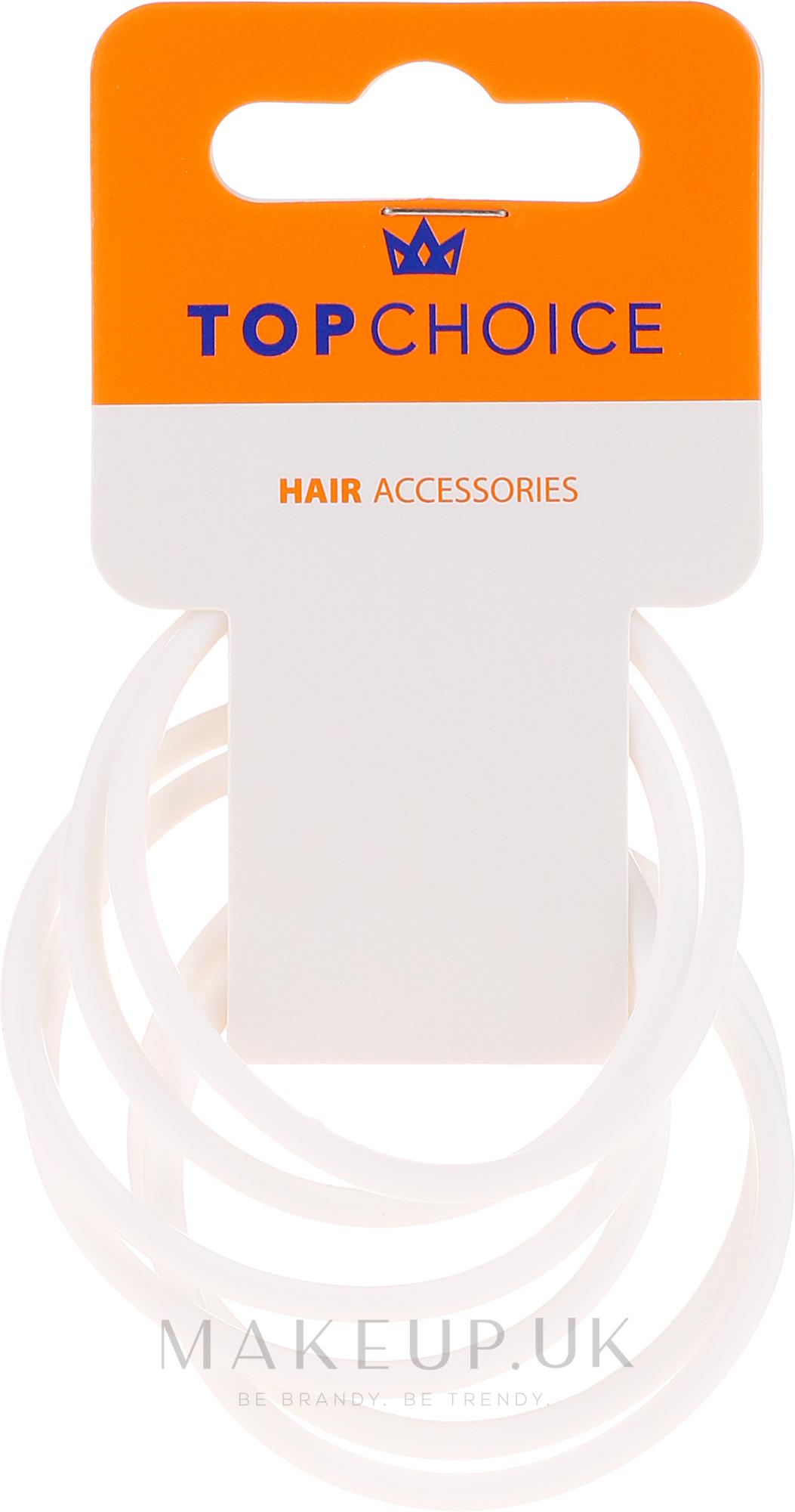 Elastic Hair Bands, 22807, white - Top Choice — photo 6 pcs.