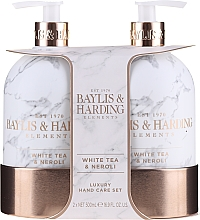 Fragrances, Perfumes, Cosmetics Set - Baylis & Harding White Tea & Neroli Hand Care Set (soap/500ml + h/b/lotion/500ml)