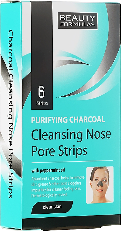 Deep Cleansing Nose Pore Strips - Beauty Formulas Purifying Charcoal Deep Cleansing Nose Pore