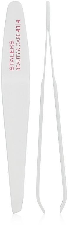 Eyebrow Tweezers with Narrow Beveled Edges, TBC-41/4 - Staleks Beauty & Care 41 Type 4