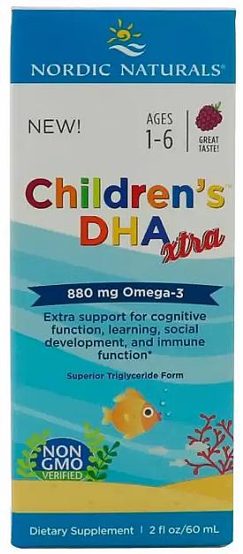 "Kids Dietary Supplement, grape taste 880 mg, ""Omega-3"" - Nordic Naturals Children's DHA Xtra"