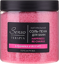 "Fragrances, Perfumes, Cosmetics Natural Bath Salt-Foam ""Strawberry & Yogurt"" - Senso Terapia Happines Re-Charge"
