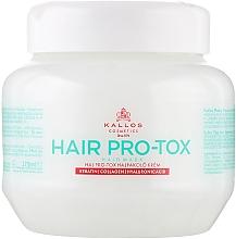 Fragrances, Perfumes, Cosmetics Keratin, Collagen & Hyaluronic Acid Hair Mask - Kallos Cosmetics Pro-Tox Hair Mask