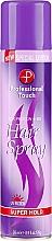 Fragrances, Perfumes, Cosmetics Hair Spray - Professional Touch Silk Protein + B5 Super Hold Hair Spray