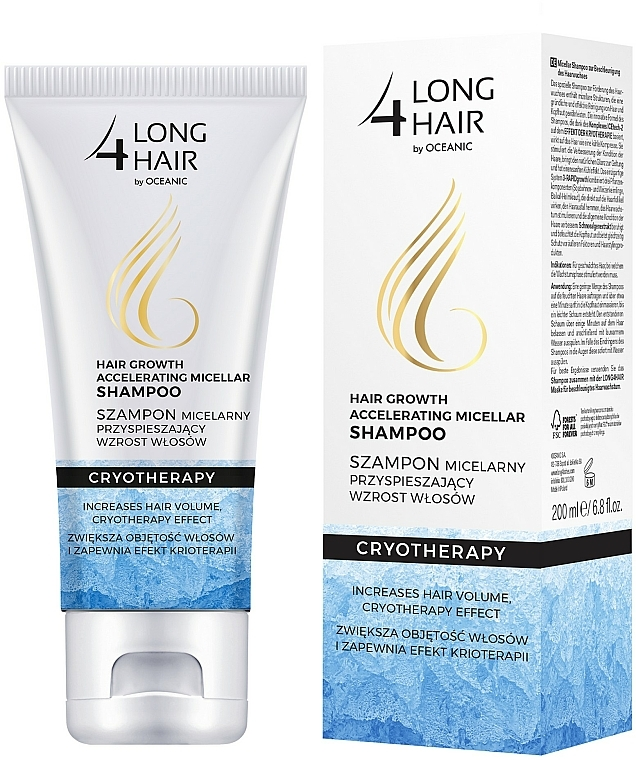 Hair Shampoo - Long4Lashes Krioterapia Micellar Shampoo