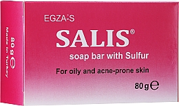Fragrances, Perfumes, Cosmetics Sulfur Soap Bar for Oily & Problem Skin - Egza-S Salis Soap Bar With Sulfur