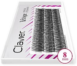 Fragrances, Perfumes, Cosmetics False Lashes, 8mm - Clavier V-Shape Eyelashes