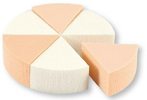 Makeup Sponges, 35821, white & beige, 6 pcs - Top Choice Foundation Sponges