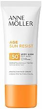 Fragrances, Perfumes, Cosmetics Facial Sun Cream - Anne Moller Age Sun Resist Protective Face Cream SPF50+