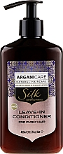 Fragrances, Perfumes, Cosmetics Leave-In Wavy Hair Conditioner - Arganicare Silk Leave-In Conditioner For Curly Hair