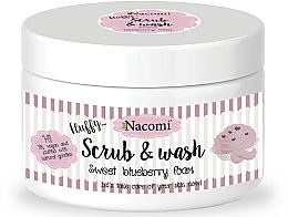 "Fragrances, Perfumes, Cosmetics Washing Peeling Foam ""Blueberry"" - Nacomi Scrub and Wash Sweet Blueberry Foam"