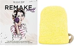 "Fragrances, Perfumes, Cosmetics Makeup Remover Glove, yellow ""ReMake"" - MakeUp"
