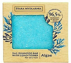 Fragrances, Perfumes, Cosmetics Seaweed Shampoo-Conditioner Bar - Stara Mydlarnia Algae 2in1 Shampoo Bar