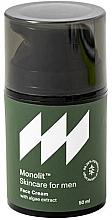 Fragrances, Perfumes, Cosmetics Moisturizing Algae Face Cream - Monolit Skincare For Men Face Cream With Algae Extract