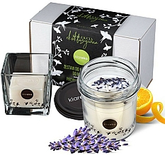 Fragrances, Perfumes, Cosmetics Lavender Set - Klareko (candle/200g+soap)