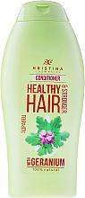 Fragrances, Perfumes, Cosmetics Geranium Conditioner - Hristina Cosmetics Healthy Hair Conditioner