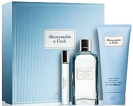 Fragrances, Perfumes, Cosmetics Abercrombie & Fitch First Instinct Blue Women - Set (edp/100ml + b/lot/100ml + edp/15ml)