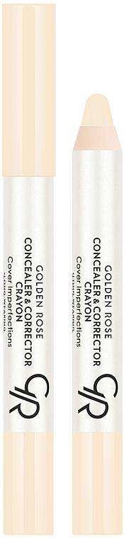Face Concealer-Corrector - Golden Rose Concealer & Corrector Crayon