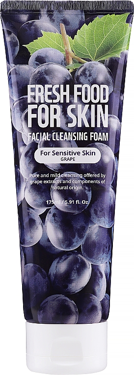 Cleansing Foam for Sensitive Skin - Superfood For Skin Freshfood Grape Cleansing Foam — photo N1