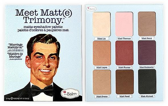Eyeshadow Palette - TheBalm Meet Matt(e) Trimony Matte Eyeshadow Palette