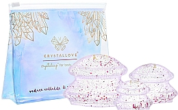 Fragrances, Perfumes, Cosmetics Body Massage Silicone Suction Cups - Crystallove Crystal Body Cupping Set