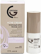 Fragrances, Perfumes, Cosmetics Anti-Acne Spot Cream - Greenini Acne Cream Aha & Bha Acid