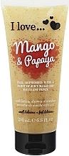 """Fragrances, Perfumes, Cosmetics Body Scrub """"Mango-Papaya"""" - I Love... Mango & Papaya Exfoliating Shower Smoothie"""
