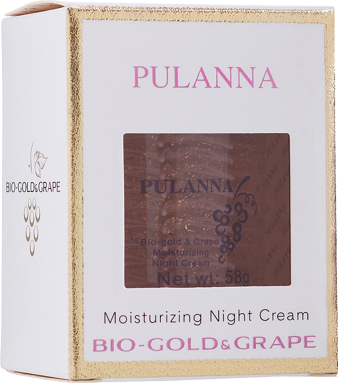Moisturizing Bio-Gold & Grape Night Face Cream - Pulanna Bio-Gold & Grape Moisturizing Night Cream — photo N1
