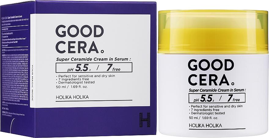 Facial Cream-Serum - Holika Holika Good Cera Super Ceramide Cream In Serum — photo N2
