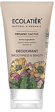 "Fragrances, Perfumes, Cosmetics Deodorant ""Smoothness & Beauty"" - Ecolatier Organic Cactus Deodorant"
