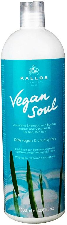 Volumizing Shampoo with Bamboo Extract & Coconut Oil - Kallos Cosmetics KJMN Vegan Soul Volumizing Shampoo