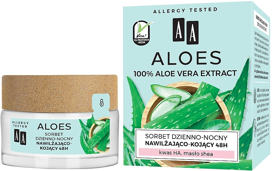 Moisturizing & Soothing Sorbet - AA Aloes Sorbet