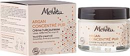 Fragrances, Perfumes, Cosmetics Oil Cream for Face - Melvita Argan Concentre Pur Cream-Oil