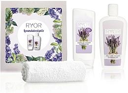 Fragrances, Perfumes, Cosmetics Set - Ryor Lavender Care Set (sh/gel/200ml + lot/300ml + towel)