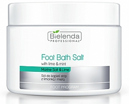 Fragrances, Perfumes, Cosmetics Foot Bath with Lime and Mint - Bielenda Professional Foot Bath Salt with Lime & Mint