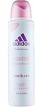 Fragrances, Perfumes, Cosmetics Deodorant - Adidas Anti-Perspirant Control Ultra Protection 48h