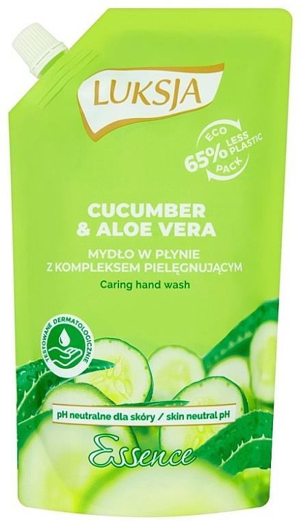 "Liquid Cream Soap ""Cucumber & Aloe"" - Luksja Cucumber & Aloe Soap (doypack)"