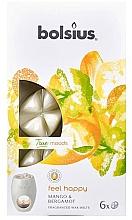 "Fragrances, Perfumes, Cosmetics Scented Wax ""Mango & Bergamot"" - Bolsius True Moods Feel Happy Mango & Bergamot"