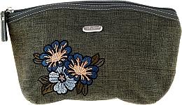 "Fragrances, Perfumes, Cosmetics Women Makeup Bag ""Soft"" 96013, green - Top Choice"