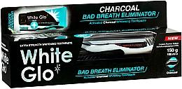 "Fragrances, Perfumes, Cosmetics Set ""Fresh Breath"" with Black-White Brush - White Glo Charcoal Bad Breath Eliminator (t/paste/100ml + t/brush/1)"