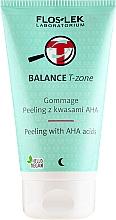 Fragrances, Perfumes, Cosmetics Gommage Peeling with AHA Acids - Floslek Balance T-Zone Gommage Peeling With AHA Acids