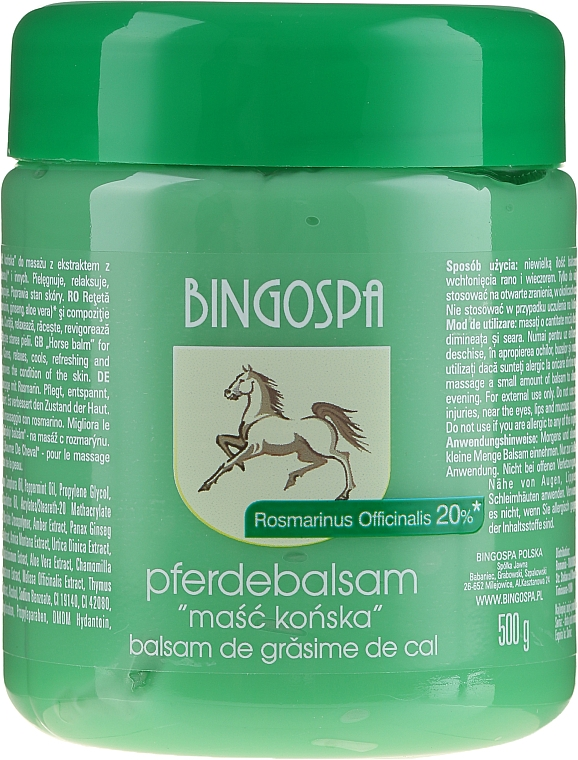 Horse Ointment with Rosemary Extract - BingoSpa Ointment Horse With Rosemary