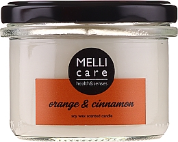 "Fragrances, Perfumes, Cosmetics Scented Candle ""Orange and Cinnamon"" - Melli Care Orange & Cinnamon Soy Wax Scented Candle"