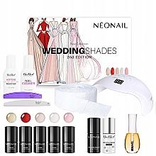 Fragrances, Perfumes, Cosmetics Set - Neonail Professional Wedding Shades Set (n/polish/5x3ml + n/base/7.2ml + n/top/7.2ml + lamp/1pc + n/cleaner/50ml + n/remover/50ml + n/pads/250pcs + nail/file/2pcs+n/oil/15ml)