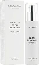 Fragrances, Perfumes, Cosmetics Night Face Cream - Madara Cosmetics Time Miracle Total Renewal