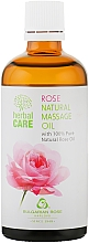 "Fragrances, Perfumes, Cosmetics Massage Oil ""Rose"" - Bulgarian Rose Herbal Care"