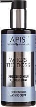 Fragrances, Perfumes, Cosmetics Energizing Body & Hand Cream - Apis Who's The Boss Energizing Body And Hand Cream