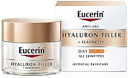 Fragrances, Perfumes, Cosmetics Anti-Aging Day Cream for All Skin Types - Eucerin Anti-Age Elasticity+Filler Day Cream SPF 30