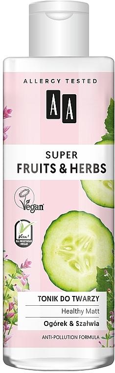 Face Tonic - AA Super Fruits & Herbs Healthy Matt